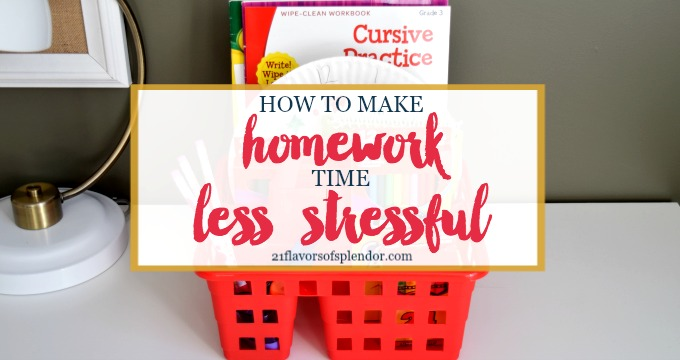 How to Make Homework Time Less Stressful