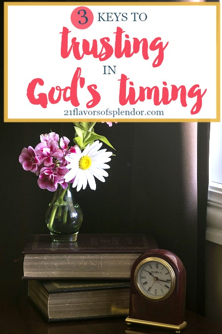 Learning to trust God's timing is not always easy, but so necessary. Three keys to know when learning to trust God's timing. Click...