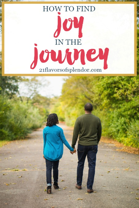 The journey of life is messy and filled with ups and downs. Yet despite it all, we have to find joy in the journey, one of the fruits of the Spirit. Click.. #choosejoy #faith #marriage