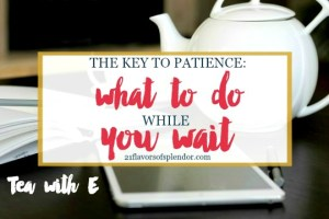 The Key to Patience: What To Do While You Wait