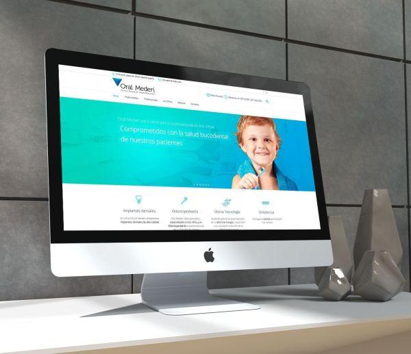Diseño de la web de salud, de la Clínica Dental Oral Mederi