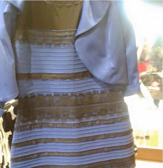 [图]这条裙子到底是什么颜色?