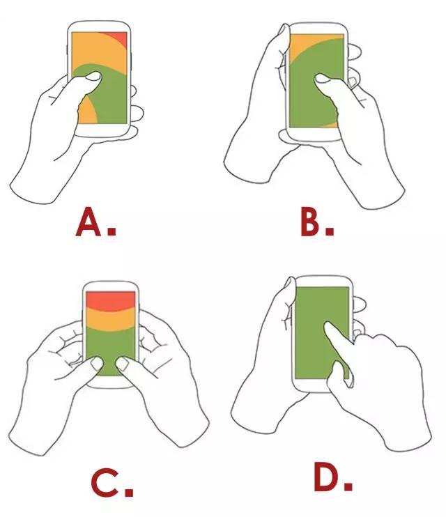 你平时是怎么样握手机的呢?快来选选吧,可以暴露出你的性格哦