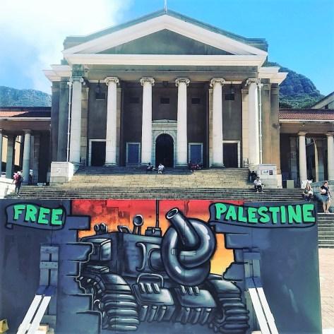 graffiti art - Free Palestine at UCT