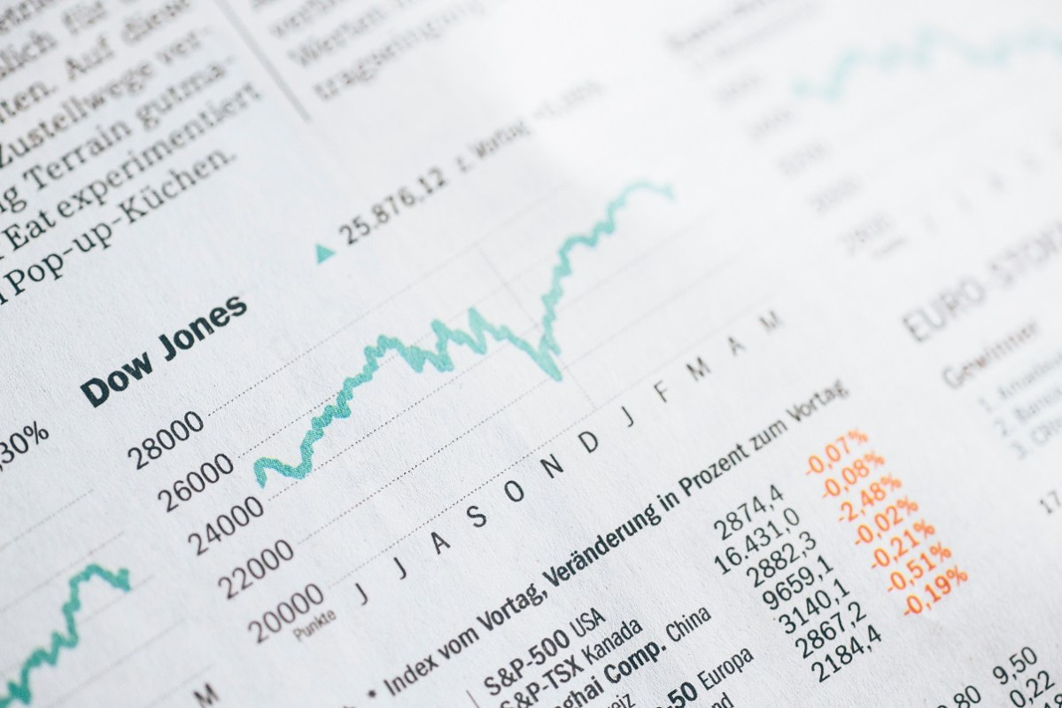 stock price section in newspaper