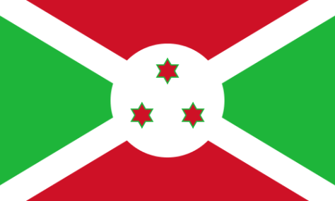 Flag of Burundi a Africa Cup of Nations 2019 finalist