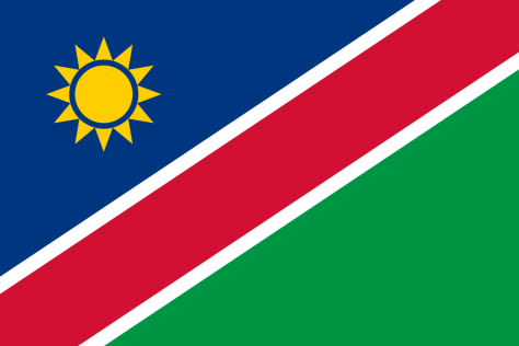 Flag of Namibia a Africa Cup of Nation 2019 finalist
