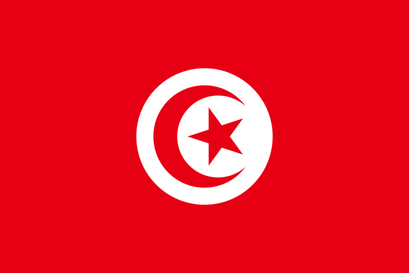 Flag of Tunisia a Africa Cup of Nation 2019 finalist