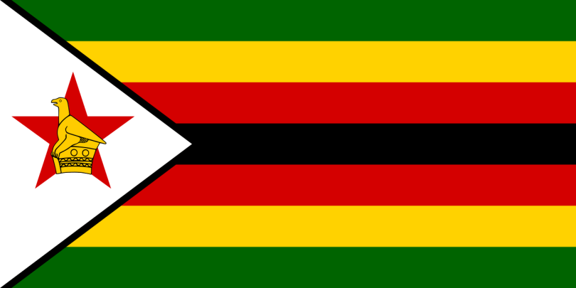 Flag of Zimbabwe a Africa Cup of Nation 2019 finalist