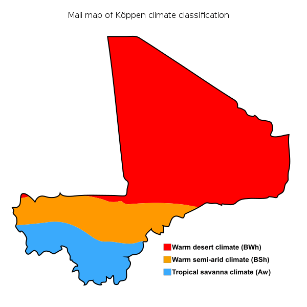 The central Mopti region of Mali has a warm semi-arid climate with scare resources thus forming a base for resource conflicts between the Muslim and pastrolists Fulani and the sedentary Dogon and Bambara ethnic groups