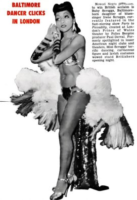 Baby Scruggs in Jet Magazine - May, 1952.  (Race and Burlesque: The curious case of the performer of colour.)