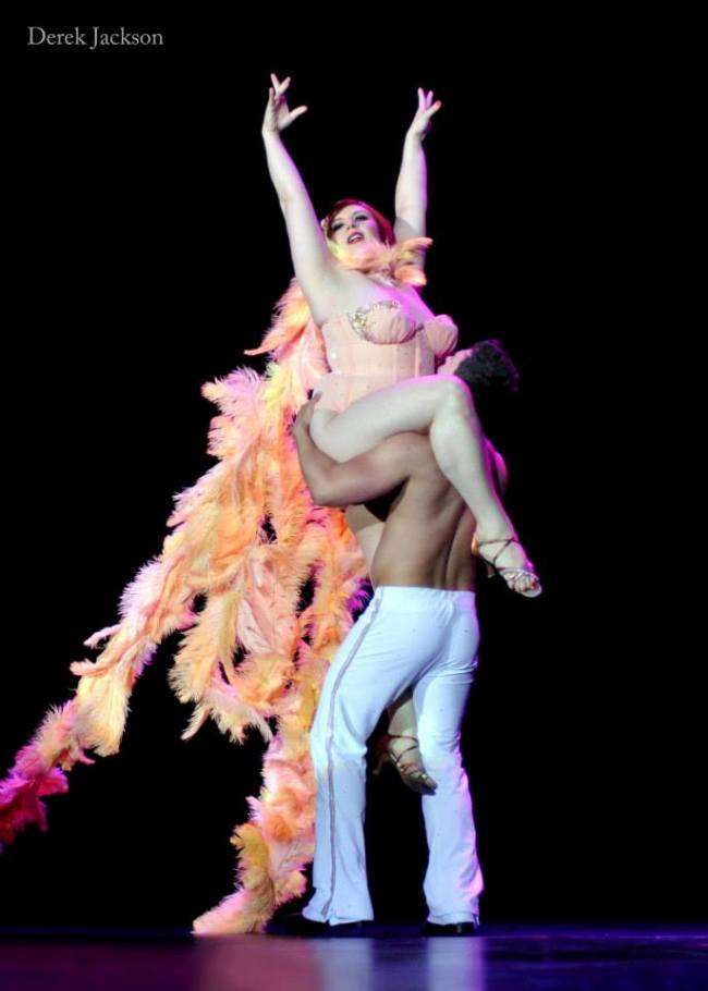 Frenchie Kiss and Jett Adore give their farewell performance as 'Best Duo' 2012.  ©Derek Jackson  (Burlesque Hall of Fame Weekend 2013)