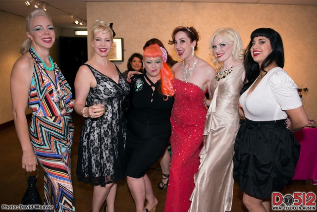 Imogen Kelly, Bambi La Fleur, Dirty Martini, Ruby Joule, Goldie Candela and Coco Lectric at the Texas Burlesque Festival.  ©David Weaver