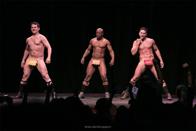 The Stage Door Johnnies performing at the Colorado Burlesque Festival 2013.  ©Broken Glass Photography