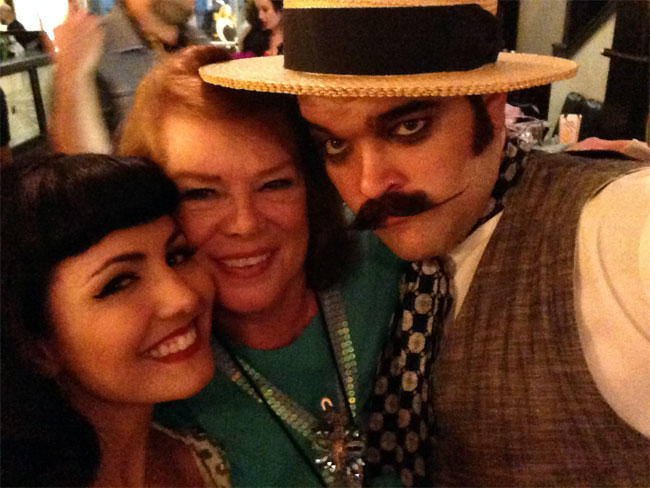 Ruby Champagne, Tiffany Carter and Russell Bruner at the San Antonio Burlesque Festival.  ©Russell Bruner