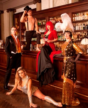 Dusty Limits, Sammy Dinneen, Laura London, Vicky Butterfly and Valerie Murzak in Cabaret at Scarfes Bar, Rosewood London.