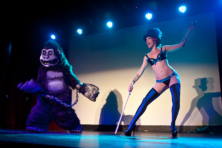 Nasty Canasta with Kong at @Wasabassco's KONG, 2013.  (Interview: Doc Wasabassco – 10 Years in Burlesque)