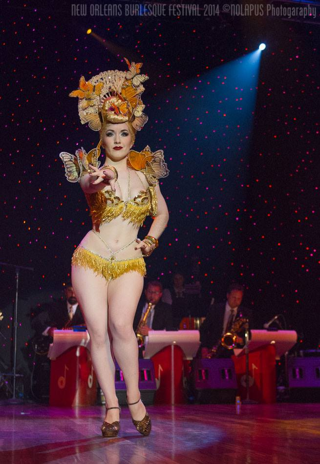 Medianoche at the New Orleans Burlesque Festival 2014.  ©NOLAPUS.com