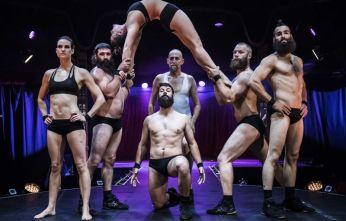 Cirque Alfonse in BARBU at the London Wonderground Spiegeltent, by David Jensen