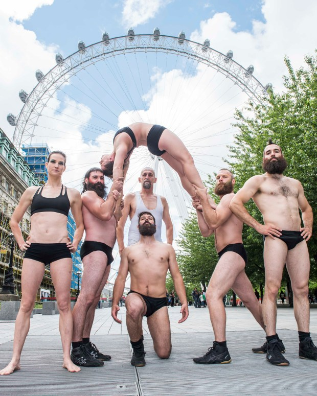 The cast of BARBU, Cirque Alfonse, arrive in the capital to headline London Wonderground this summer. Photo by David Jensen