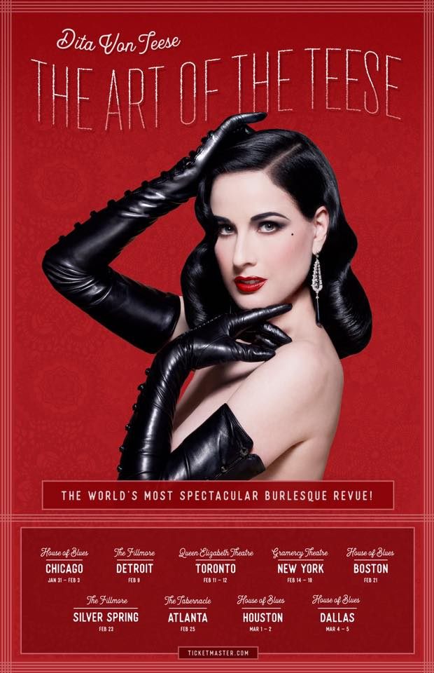 Dita Von Teese in The Art of the Teese, touring in 2017.
