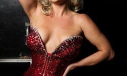 Missy Lisa, star of the Burlesque Showcase at the Viva Las Vegas Rockabilly Weekend. Photo by Steve Prue.