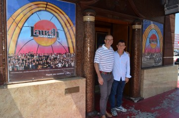 With good friend Jamie Masada, founder of the Laugh Factory and a great humanitarian.