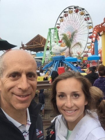 At Santa Monica Pier with favorite youngest daughter Addie.
