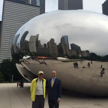 At the Cloud Gate sculpture (AKA: the bean).
