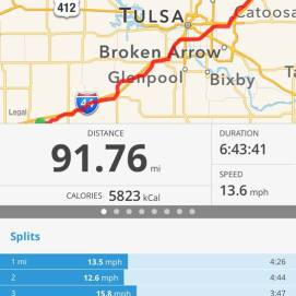 All in all a relatively light day of riding compared to some of the days gone by.