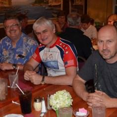 Gary, Dariusz and Jarek at dinner at Guzzardo's Italian Villa.
