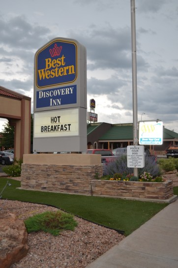 We stayed at this Best Western.
