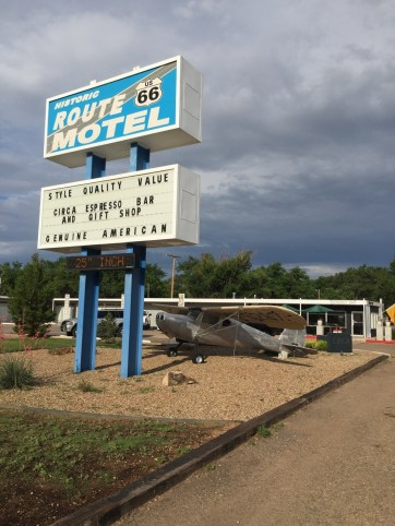 """A """"Genuine American"""" Motel on the outskirts of Tucumcari."""