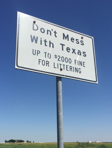 They taking littering in TX more seriously than most states.
