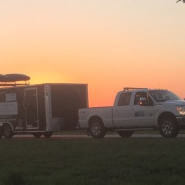 The rig at sundown