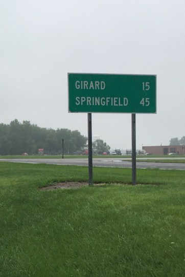 We're already 45 miles into today's ride and only half way to Springfield.