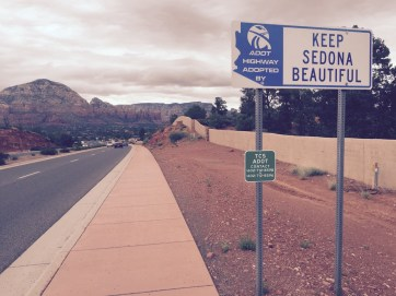 Entering Sedona. Wished we could have spent more time there