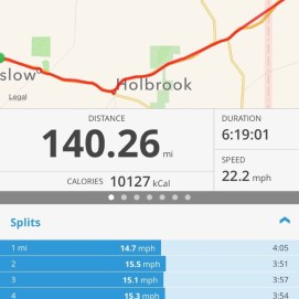 Lots of miles covered in a relatively short time. Thank you God for the tail wind.