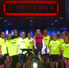 C2EFA riders at Cyclebar