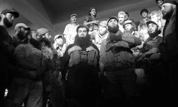 fighters from fateh al sham bw