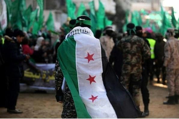 gaza hamas free syria flag
