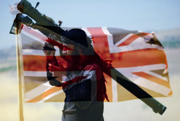 Brit flag and nusra