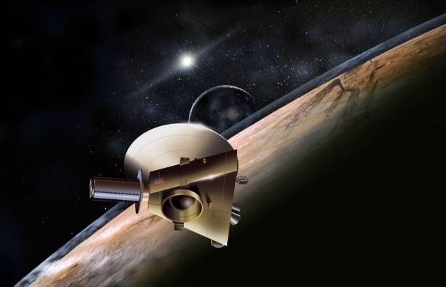 Daleko od pestrého světa, na němž žijeme, na samé výspě slunečního systému, se zvolna mrazivým a pustým prostorem pohybuje poslední planeta Pluto.