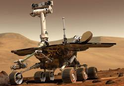 Robot Opportunity narazil při své cestě po Marsu na podivný předmět. Podle prvních údajů, které mají experti z NASA k dispozici, se pravděpodobně jedná o meteorit.