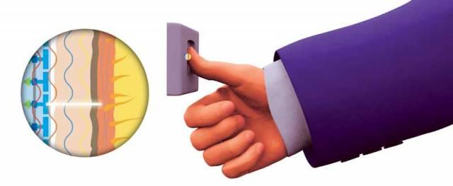 Kapacitní snímače otisků prstů jsou ve srovnání s ostatními typy snímačů (např. optoelektronickými nebo tepelnými) velmi malé a ploché.