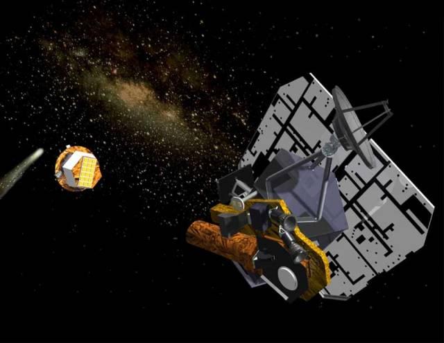 V katastrofických filmech se až dosud komety a asteroidy trefovaly do naší Země. Nyní se situace obrátila a střílet budeme my.