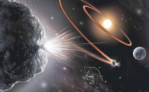 Když 4. července loňského roku dopadl projektil vypuštěný sondou Deep Impact na jádro komety Tempel 1, sledovaly tuto událost kromě mateřské sondy také desítky pozemských a kosmických dalekohledů.