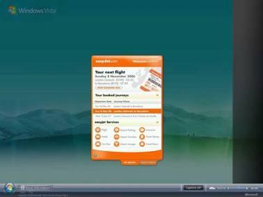 Letecká společnost easyJet a firma Microsoft představily svůj nový projekt easyJet interaktivního okénka pro rezervaci letů.