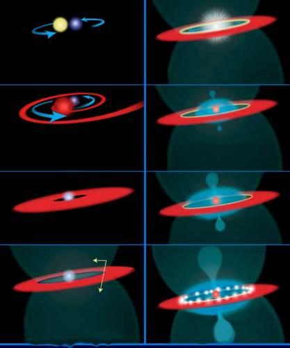 Astronomové nyní prostřednictvím Hubblova vesmírného teleskopu získávají překvapivé údaje o zrození supernovy, ke kterému ve skutečnosti došlo před 163 000 lety. Výbuch byl poprvé zaznamenán pozemskými astronomy v roce 1987. Tato titánská supernova tak nese název SN 1987A.