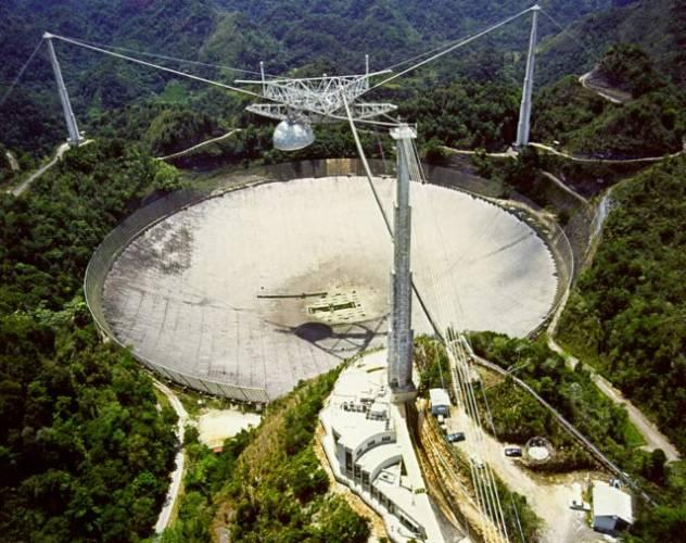 Slavnou bondovku Zlaté oko, zná nejspíše každý ze čtenářů 21. STOLETÍ a určitě mu utkvěl v paměti obří radioteleskop na němž se odehrává závěrečný souboj mezi zlosynem a klaďasem Jamesem Bondem. V hlavní roli zde mimo herců vystupuje i největší pevný radioteleskop světa v portorickém Arecibu.